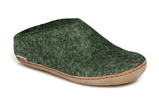 Glerups Unisex B Forest - Wool Felt Slippers w/ Leather Sole - Choose Size - NEW