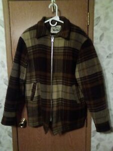 Woolrich Vintage Wool Jacket L Sherpa Lined