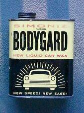VINTAGE 1950's SIMONIZ BODYGUARD NEW LIQUID CAR WAX CAN AUTOMOTIVE COLLECTOR TIN