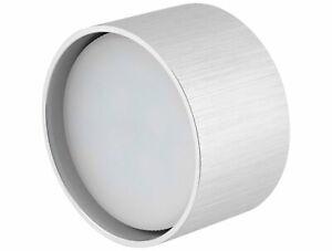 LED Spot Aluminium Mounted Light Ceiling Light GX53 Round Brushed - Warm White