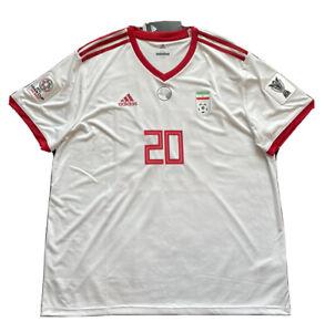 2018/19 Iran Home Jersey #20 Sardar Azmoun 2XL Adidas Asian Cup Patches NEW