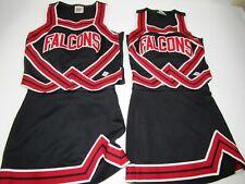 Adult FALCONS Twin 2 Matching Cheerleader Uniform Outfits Halloween Costume Fun