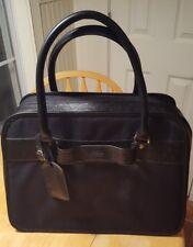 Joy Mangano Duffle Travel Bag Black Handles Compartments Dividers