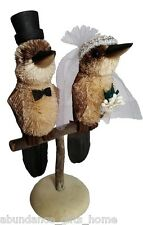 Wedding Cake Topper - Kookaburra Bride & Groom Australian Animales Decoration