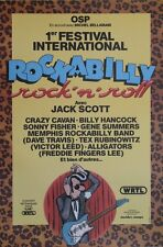 """1er FESTIVAL INTERNATIONAL ROCKABILLY 1981"" Affiche originale entoilée MARGERIN"
