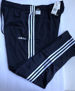 NEW Adidas Men's Essentials Size XXL 3-Stripes Tapered Pants Blue White Joggers