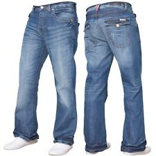 297a742f518 APT Mens A31/ A42 Button Fly Creased Boot Cut Jeans All Waist & Leg Sizes