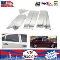 Chrome Pillar Posts fit Toyota Avalon 95-99 8pc Set Door Trim Mirrored Cover Kit