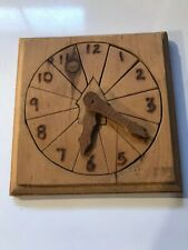 Handmade Wooden Clock Kids Time Early Learning Jigsaw Block Puzzle