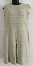 """Vintage 1960s WOOL WEAVE Winter Retro Casual Shift Dress  Chest 38"""" UK 12/14"""