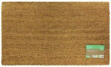 40 x 70cm Plain Coir Latex Backed Entrance Door Mat Indoor / Outdoor