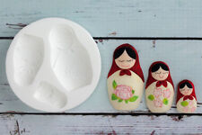 Stampo in silicone bambole russe, MATRYOSHKA, Fondant SUGARCRAFT FIMO resina PMC M090