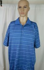 Men's Grand Slam Size XL Golf Polo Shirt Blue Stripes Casual Work Clothes Outfit