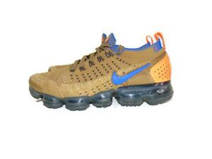 Nike Sneakers Beige Orange Air VaporMax Flyknit 2 Mowabb Running Shoes Men 7.5