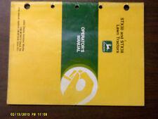 John Deere Stx30 And Stx38 Lawn Tractor Operator'S Manual