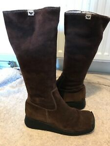 Roxy Brown Suede Knee High Boots Size 4/37