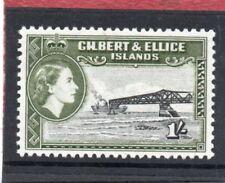 Gilbert & Ellice QE2 1956 1s. black & bronze-green sg 71 LH.Mint