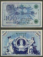 Geldschein: 100 Mark 1908 Reichsbanknote Berlin - Ro.034 N/L