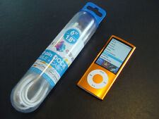 ~~NEW Battery~~ Apple iPod nano 5th Generation Orange 8 GB with New Cable BUNDLE