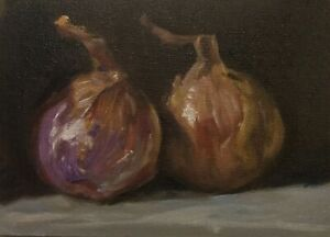 Red Onions Original Oil Daily Painting