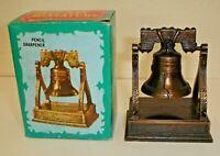 Vintage Die-Cast Metal Figural Liberty Bell Pencil Sharpener w/ Box No.8764
