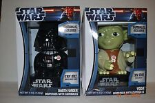 STAR WARS Darth Vader and Yoda Talking Light Up GUMBALL Dispenser SOUND NEW