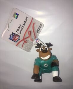 Miami Dolphins Reindeer Ornament Holiday Christmas New FREE SHIPPING