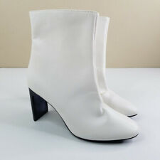 """A New Day Womens Chelsea Ankle Boots Size 9 White Smoke Gray 3.5"""" Heels"""