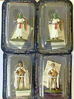 4 x 1/32 scale Metal Figures Medieval Soldiers Deagostini 54mm