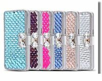 Luxury Bling Rhinestone Diamond Wallet Flip Leather Cover Case Shell  iPhone 8