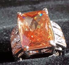 Bronze  topaz quartz  sterling silver filled ring size 8 us