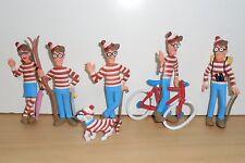 Rare Complete Set PVC FIGURE WHERE'S WALDO WALLY 4'' toy figure - 1992