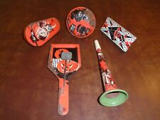 5 Vintage Halloween Tin Party Noisemakers Us Metal Toy Witch Jol Black Cat