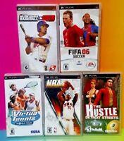 MLB NBA Tennis FIFA Soccer Pool Billards Sony PSP Game Playstation Portable Lot