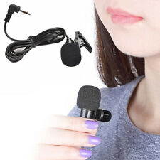 Microphone 3.5mm Hands Free Computer Clip-on Mini Lapel Mic For PC Skype