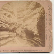 Walled in Coldwater Canyon the Wisconsin Dells WI Keystone Stereoview 1899