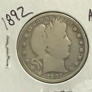 1892 Barber Silver Half Dollar First Year of Issue    E8562