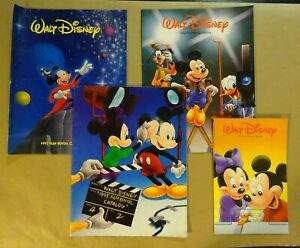 Lot of 4 - 90'S DISNEY Movies Film Rental Catalog Books - Vintage & Collectible