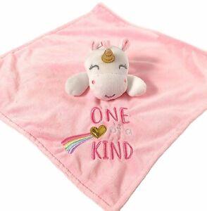 Baby Starters Unicorn Lovey Pink Security Blanket Rattle One of a Kind Fleece