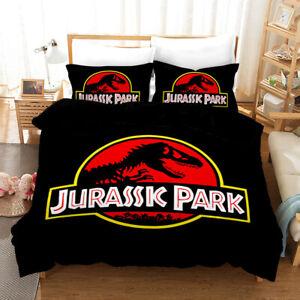 Jurassic Park Bedding Set 3PCS Of Duvet Cover Pillowcase Comforter Cover US Size
