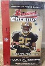New Topps Bowman Chrome 2006 NFL Football Trading Cards Autograph RC Hobby Box