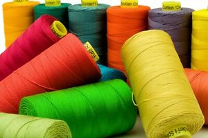 WonderFil Spagetti 12 wt 3-ply Solid Color Cotton Thread on 400 Meters