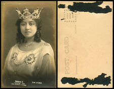 Philippines 1922 Manila Carnival Queen Virginia II RPPC 1