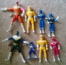 vintage Power Rangers figure lot Yellow Red Blue