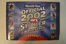 2002 -Herald Sun -Sticker Book with Mounted Team & Player Stickers -Complete Set