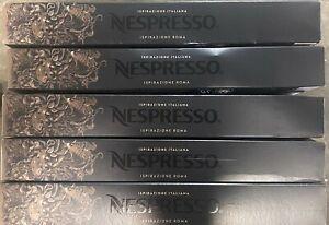 50 Ct Nespresso Ispirazione Roma OriginalLine Coffee Capsules BBD 5/31/21