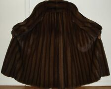 Saga Top Quality Mahogany Mink Fur Coat Size 6-8 Free Shipping EXCELLENT CONDIT