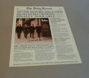 Capitol Records Promotional Flyer - The Beatles Live at The BBC - 1994
