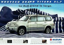Publicité Advertising 049  2004   nouveau Suzuki Grand Vitara XL6-7 4x4  ( 2 pag
