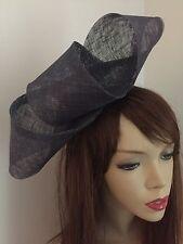 NEW Grey Pewter Fascinator Formal Hatinator Hairband Womens Wedding Hat Ladies